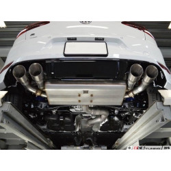 VWR Golf 7R Rear Exhaust System NON Valved Resonated (Cat-back) (inc. Valve delete plugs)