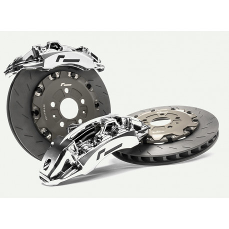 RacingLine Front Brake Kit, 345mm Disc and 4-Pot Calipers Mk5/6 Golf VWR65G501