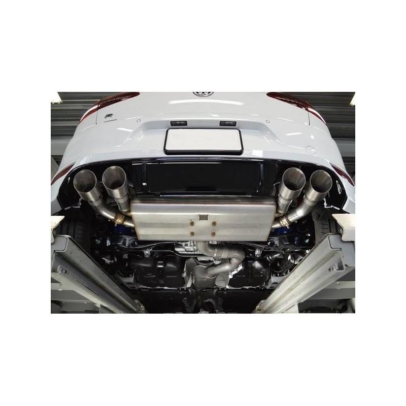 VWR Golf 7R Rear Exhaust System NON Valved (Cat-back) (inc. Valve delete plugs)
